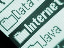 Internet Java de los datos fotografía de archivo