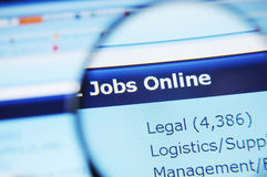 Internet jobs stock images