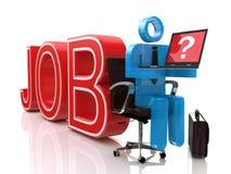 Internet-Jobsuche Lizenzfreies Stockfoto