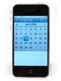 Internet-Kalender-Telefon Lizenzfreie Stockfotografie