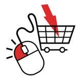 Internet-Kauf Lizenzfreies Stockbild