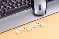 Internet And Keyboard Stock Photo