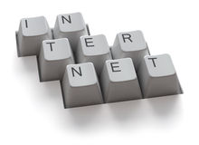 Internet keyboard / isolated royalty free stock photos