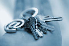 Internet keys. Blue internet keys Royalty Free Stock Photo