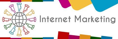 Internet-Kleurrijke Marketing Royalty-vrije Stock Afbeeldingen
