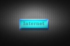 Internet-Knopf lizenzfreie stockbilder