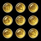 Internet-Kommunikationsweb-Ikonen Stockfoto