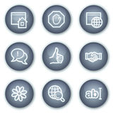 Internet-Kommunikationsweb-Ikonen, Mineralkreis Lizenzfreies Stockbild