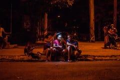 Internet komt aan Cuba aan Stock Foto's