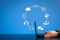 Internet-Konzept Lizenzfreie Stockfotos