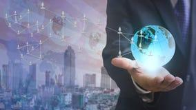 Internet-Konzept des globalen Geschäfts Lizenzfreies Stockfoto