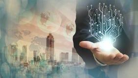 Internet-Konzept des globalen Geschäfts Stockbild