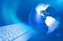 Internet-Konzept mit Tastatur   Lizenzfreie Stockfotos