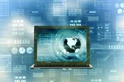 Internet Laptop Stock Image