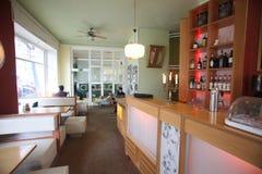 Internet laundrette cafe Royalty Free Stock Images