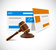 Internet law concept illustration design. Over a white background Royalty Free Stock Image