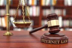 Internet law stock images