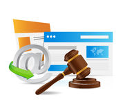 Internet laws concept illustration Stock Photography