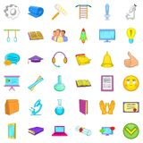 Internet learning icons set, cartoon style. Internet learning icons set. Cartoon style of 36 internet learning vector icons for web isolated on white background Stock Photography