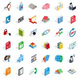 Internet learning icons set, isometric style. Internet learning icons set. Isometric style of 36 internet learning vector icons for web isolated on white Stock Photos