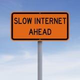 Internet lent en avant Photos libres de droits