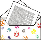 Internet letter Stock Image