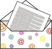 Internet letter Stock Image