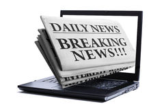 Internet-letzte Nachrichten Lizenzfreies Stockbild