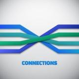 Internet-Leute-Verbindung zeichnet Vektorhintergrund Stockfotografie