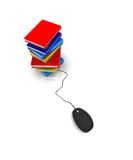 Internet library. It also Knowledge Database royalty free illustration