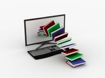 Internet  library Royalty Free Stock Image