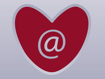 Internet-Liebe Lizenzfreie Stockbilder