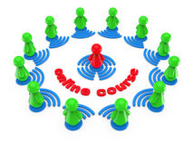 Internet on-line training concept. Royalty Free Stock Photography