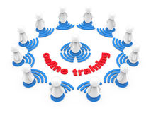 Internet-on-line-Trainingskonzept Lizenzfreies Stockbild