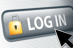 Internet log in button Stock Images