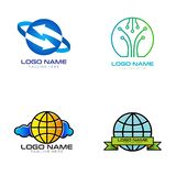 Internet logo and icon design stock illustration