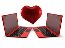 Internet Love Royalty Free Stock Photo