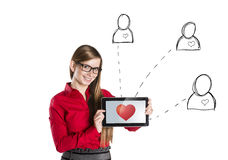 Internet love. Funny love in social media and internet communication Stock Photos