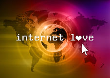 Internet love Royalty Free Stock Photography