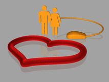 Internet love - isolated - 3D Stock Photography