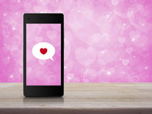 Internet love online connection, Valentines day concept Royalty Free Stock Photo