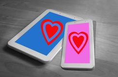Internet lovers Royalty Free Stock Photos