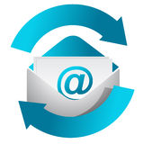 Internet mail communication concept illustration Royalty Free Stock Photo