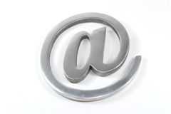 Internet mail sign. Isolated over white Royalty Free Stock Photos