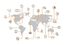 Internet-Managementkarte Lizenzfreies Stockfoto
