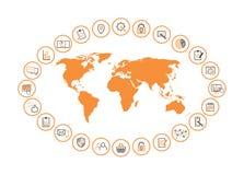 Internet-Managementkarte Stockbilder