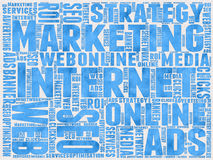 Internet-Marketing achtergrond Stock Foto