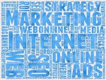 Internet-Marketing achtergrond stock foto