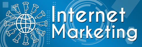 Internet Marketing Blue Abstract Background Royalty Free Stock Photos