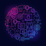 Internet marketing colorful illustration Stock Photo
